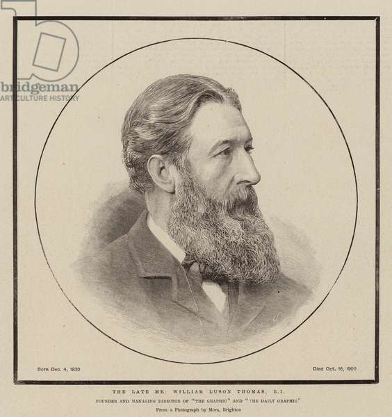 The Late Mr William Luson Thomas, RI (engraving)