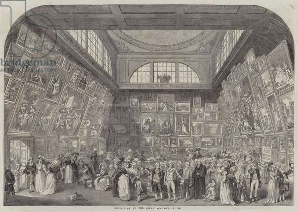 Exhibition of the Royal Academy in 1787 (engraving)