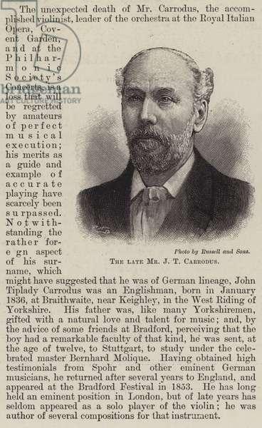 The Late Mr J T Carrodus (engraving)