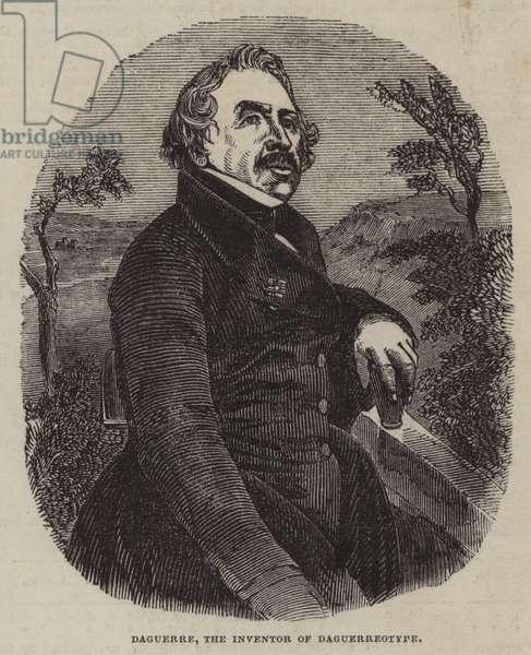 Daguerre, the Inventor of Daguerreotype (engraving)