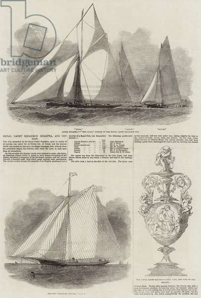 Royal Yacht Squadron Regatta, and Cup Race (engraving)