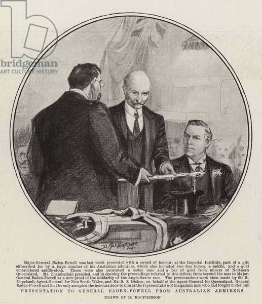 Presentation to General Baden-Powell from Australian Admirers (litho)