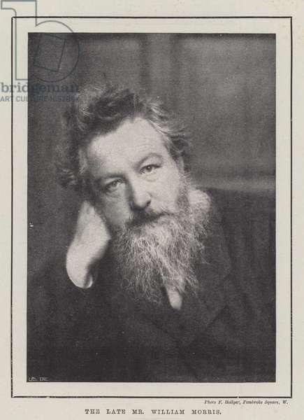 The late Mr William Morris (b/w photo)