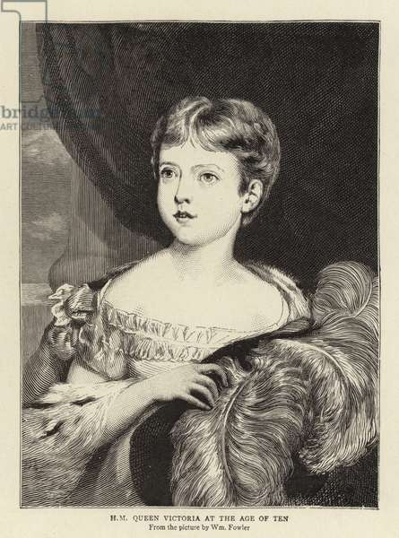 H M Queen Victoria at the age of Ten (engraving)
