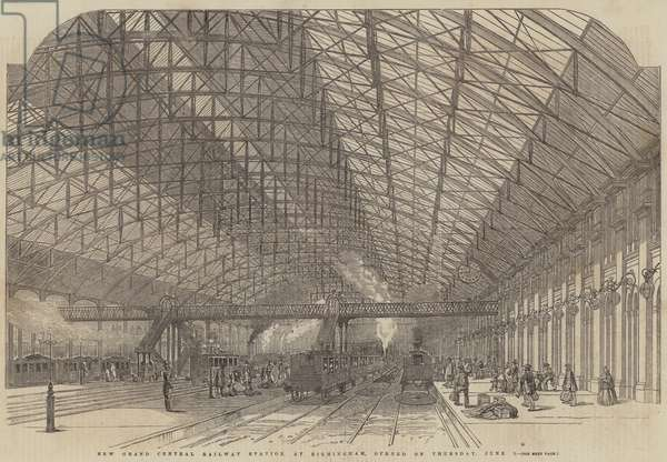 New Grand Central Railway Station, at Birmingham, opened on Thursday, 1 June (engraving)