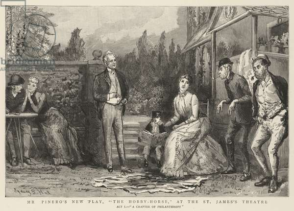 """Mr Pinero's New Play, """"The Hobby-Horse"""", at the St James's Theatre (engraving)"""