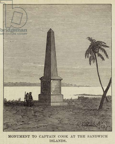 Monument to Captain Cook at the Sandwich Islands (engraving)