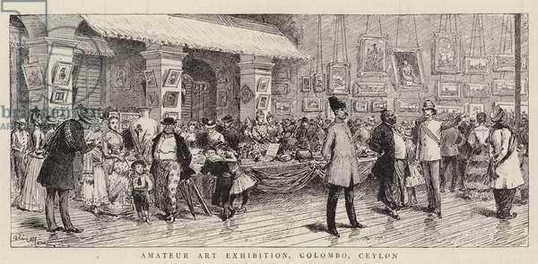 Amateur Art Exhibition, Colombo, Ceylon (engraving)