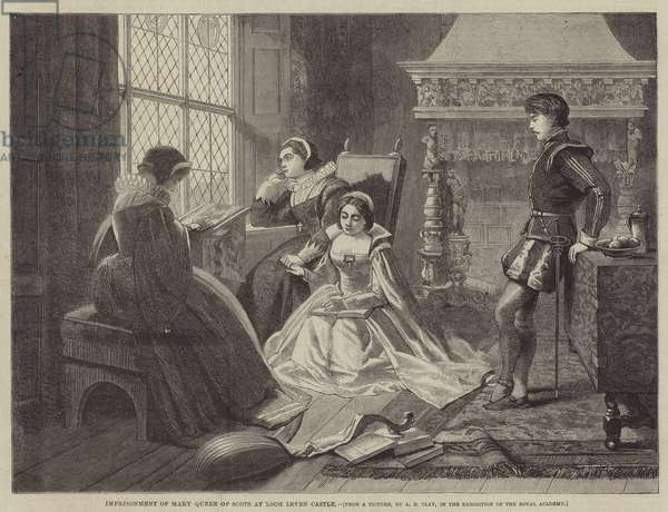 Imprisonment of Mary Queen of Scots at Loch Leven Castle (engraving)