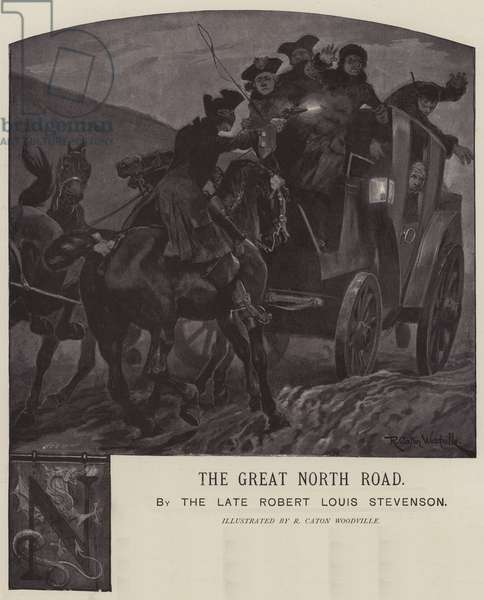 Illustration for The Great North Road, by Robert Louis Stevenson (engraving)