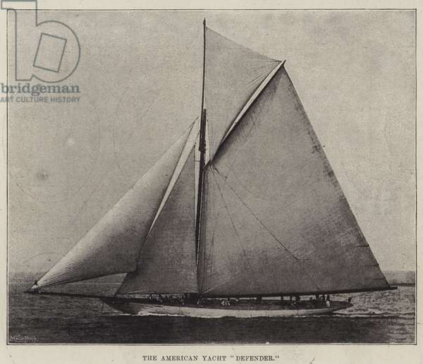 """The American Yacht """"Defender"""" (litho)"""