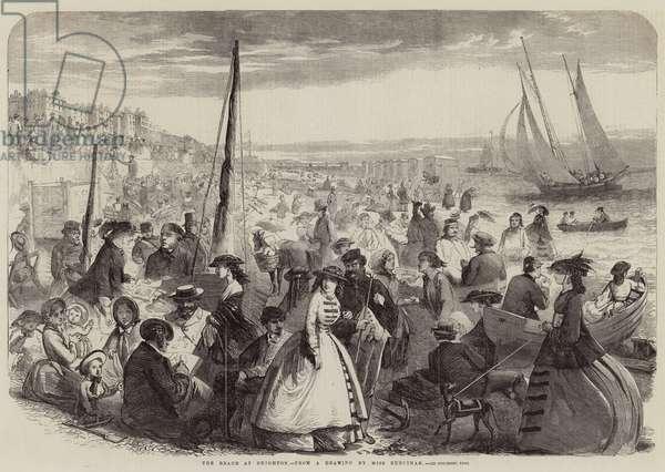 The Beach at Brighton (engraving)