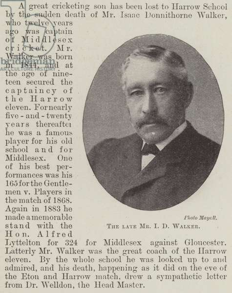 The late Mr I D Walker (b/w photo)