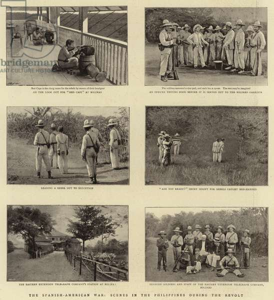 The Spanish-American War, Scenes in the Philippines during the Revolt (b/w photo)