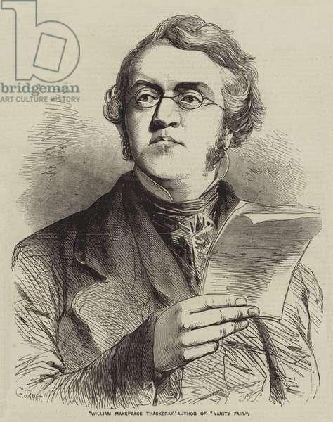 William Makepeace Thackeray, Author of
