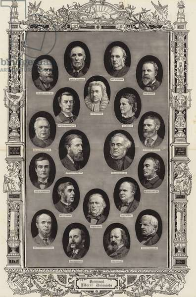 Prominent Liberal Unionists (engraving)