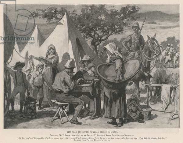 The War in South Africa, Music in Camp (litho)