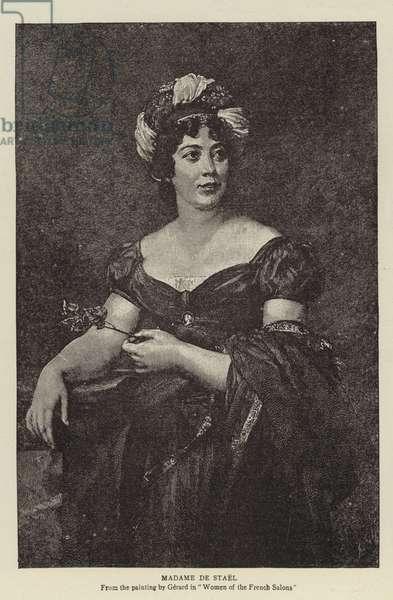 Madame de Stael (engraving)