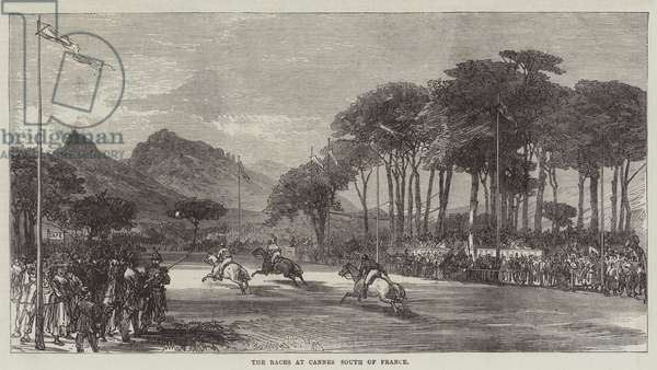The Races at Cannes, South of France (engraving)