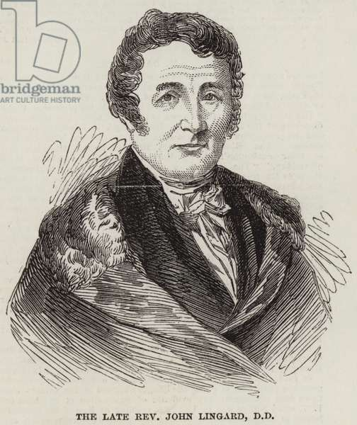 The Late Reverend John Lingard, DD (engraving)