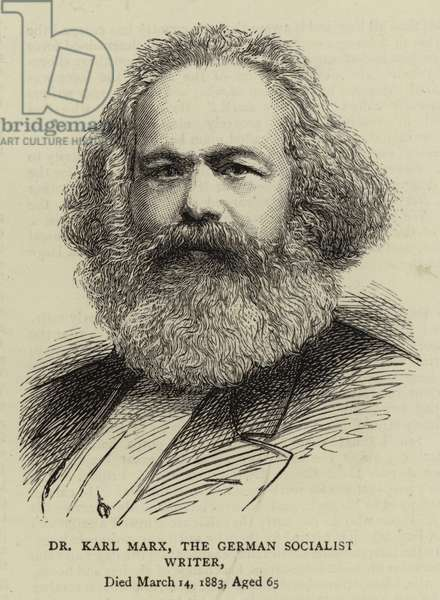 Dr Karl Marx, the German Socialist Writer (engraving)