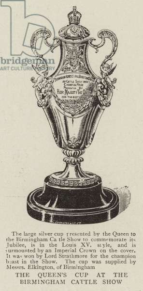 The Queen's Cup at the Birmingham Cattle Show (engraving)