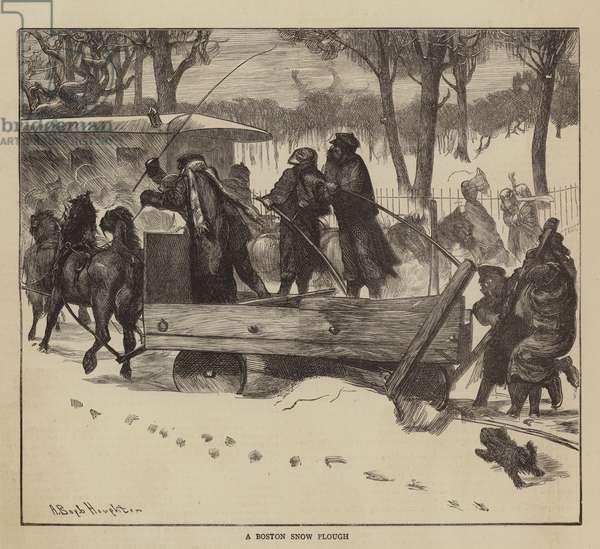 Graphic America, a Boston Snow Plough (engraving)
