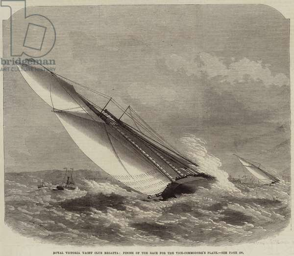Royal Victoria Yacht Club Regatta, Finish of the Race for the Vice-Commodore's Plate (engraving)