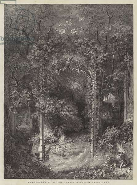 'Waldfraulein,' or the Forest Maiden, a Fairy Tale (engraving)