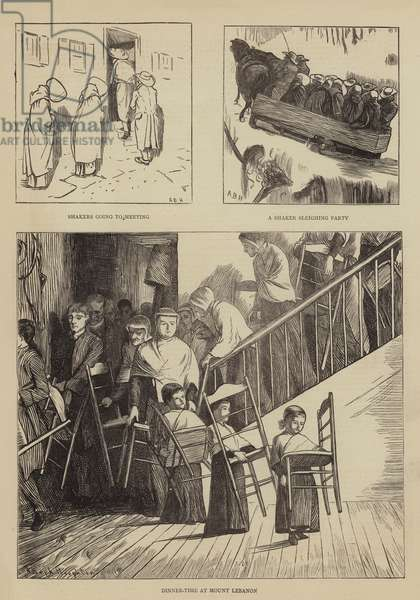 Graphic America, the Shakers (engraving)