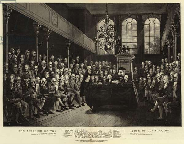 The Interior of the House of Commons, 1793 (engraving)