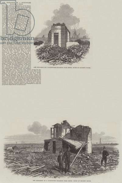 The Explosion of Gunpowder Magazine at Erith (engraving)