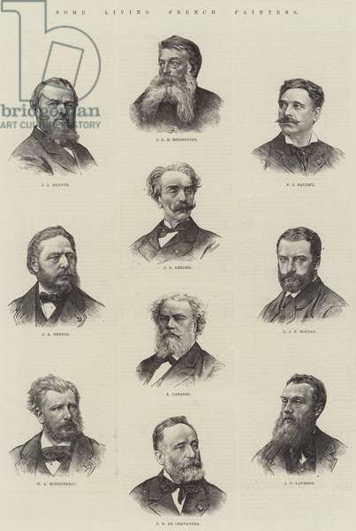 Some Living French Painters (engraving)