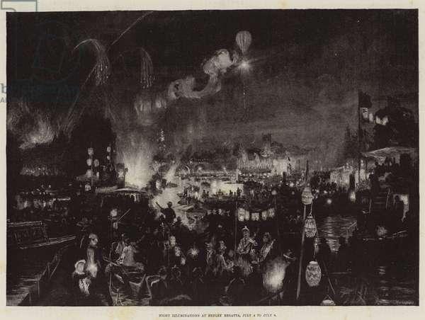 Night Illuminations at Henley Regatta, 4 July to 6 July (engraving)