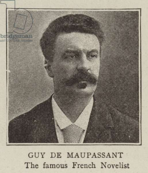 Guy de Maupassant (b/w photo)