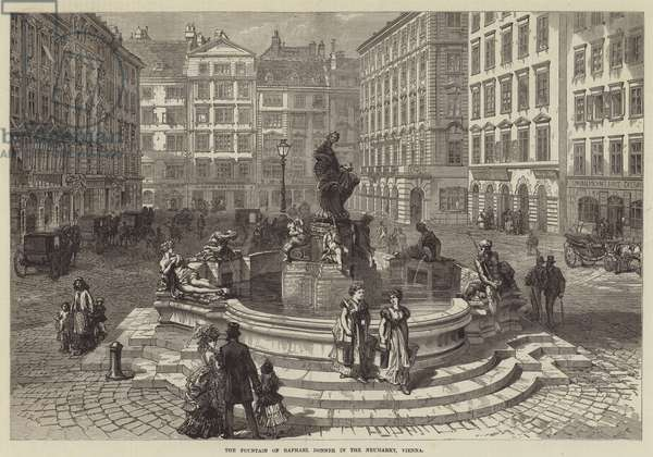 The Fountain of Raphael Donner in the Neumarkt, Vienna (engraving)
