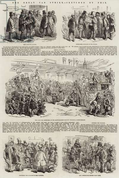 The Great Cab Strike (engraving)
