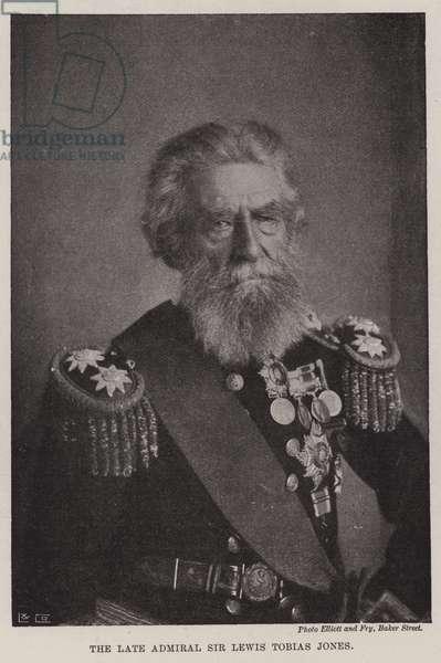 The Late Admiral Sir Lewis Tobias Jones (b/w photo)