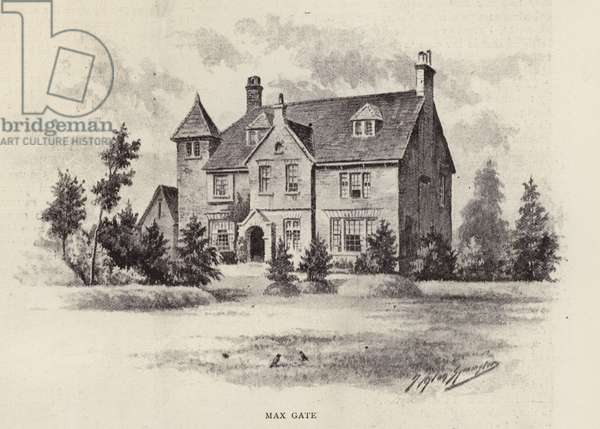 Max Gate, home of Thomas Hardy (litho)