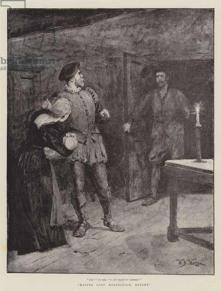 Master John Horseleigh, Knight (litho)