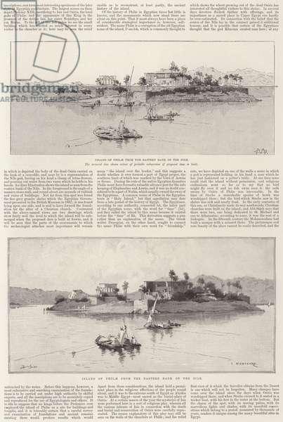 The Island of Philae (litho)