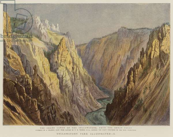 Yellowstone Park Illustrated, I (colour litho)
