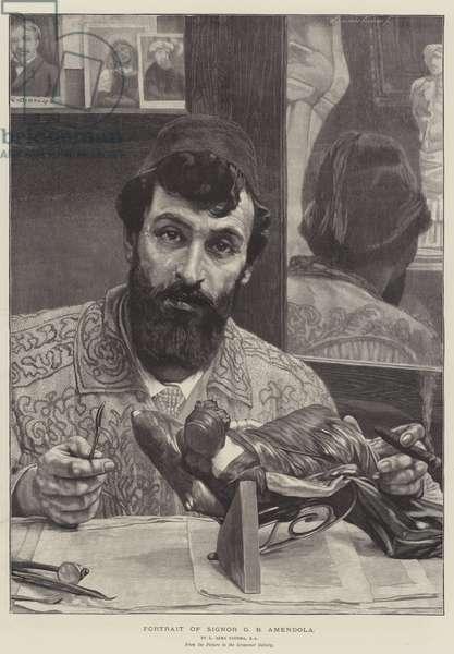 Portrait of Signor G B Amendola (engraving)