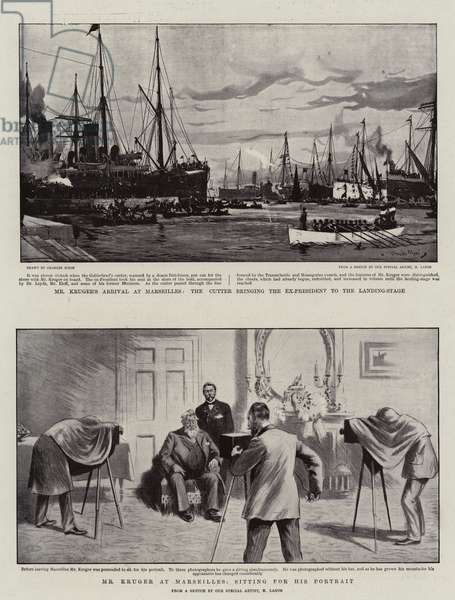 The Kruger's Arrival at Marseilles (litho)