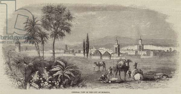 General View of the City of Morocco (engraving)