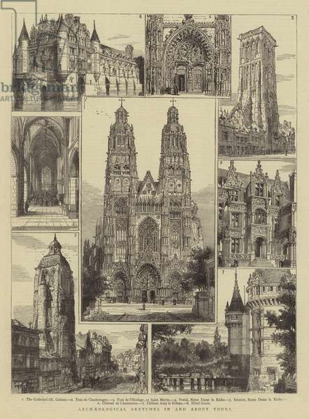 Archaeological Sketches in and about Tours (engraving)