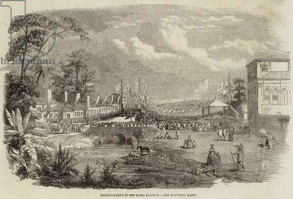 Commencement of the Bahia Railway (engraving)