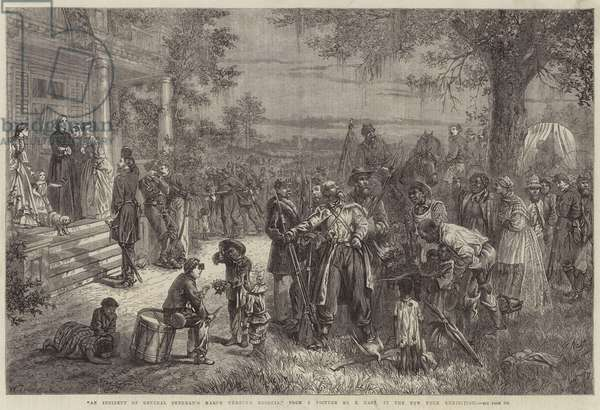 An Incident of General Sherman's March through Georgia (engraving)