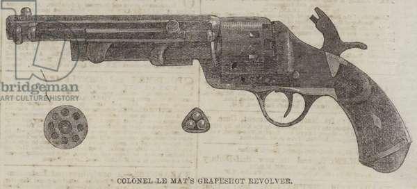 Colonel Le Mat's Grapeshot Revolver (engraving)