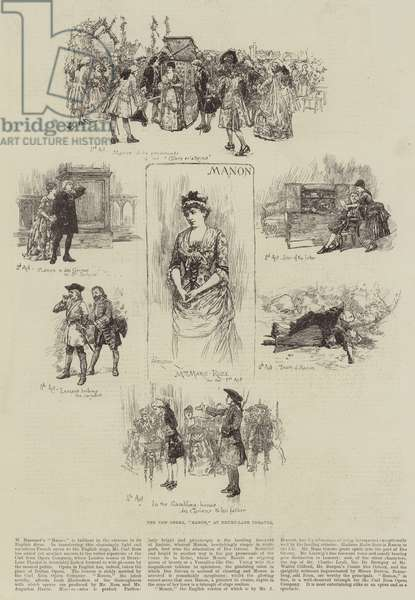 "The New Opera, ""Manon,"" at Drury-Lane Theatre (engraving)"